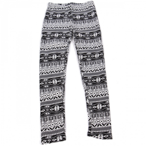 Wholesale C00 Thermal fur inside girls leggings Tribal