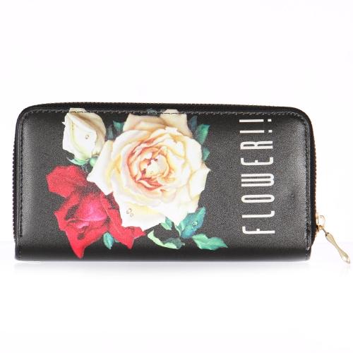 Wholesalse P18C Rose print wallet