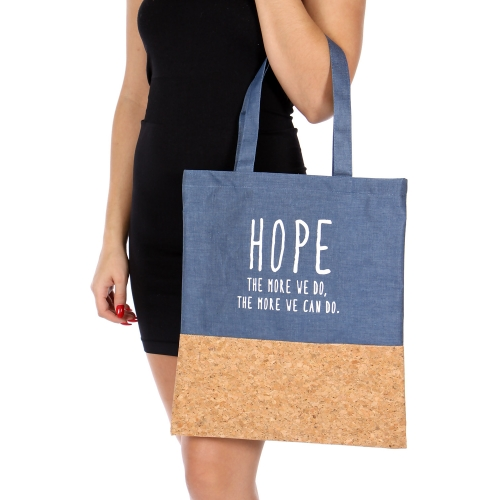 Wholesale T10B Cotton blend eco-friendly tote bag BL