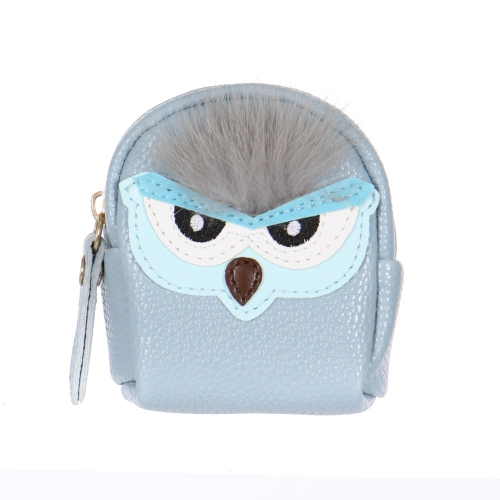 Wholesale O61 Angry fuzzy owl keychain/coin purse BK