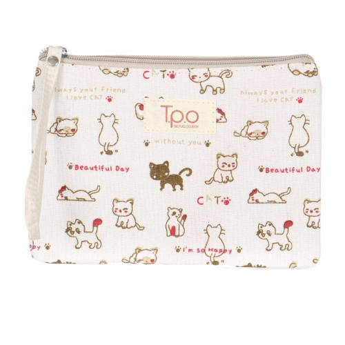 Wholesale R61E Cotton kitten makeup bag