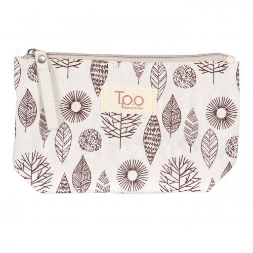 Wholesale T29A Cotton leaf makeup bag