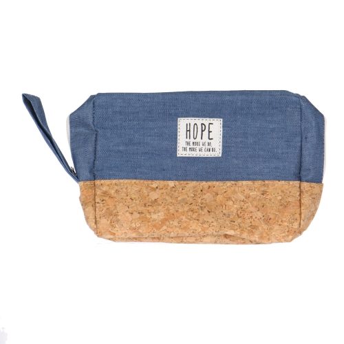 Wholesale T10B Cotton blend eco-friendly pouch with side handle BL
