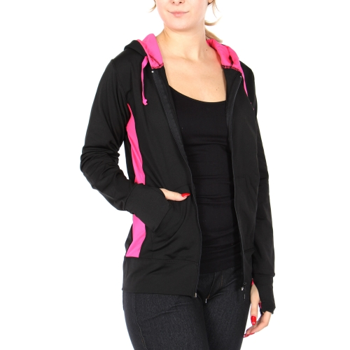 Wholesale G05A Hoodie with thumb holes Black/Black