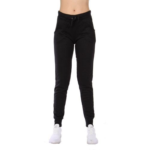 Wholesale B21A Cotton blend solid joggers Black