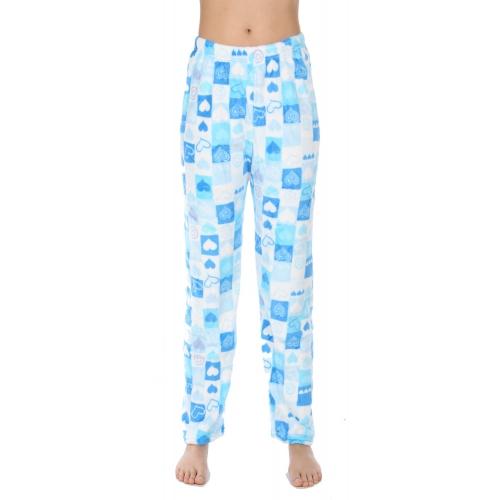 Wholesale U08 Pajama pants Square and hearts Blue