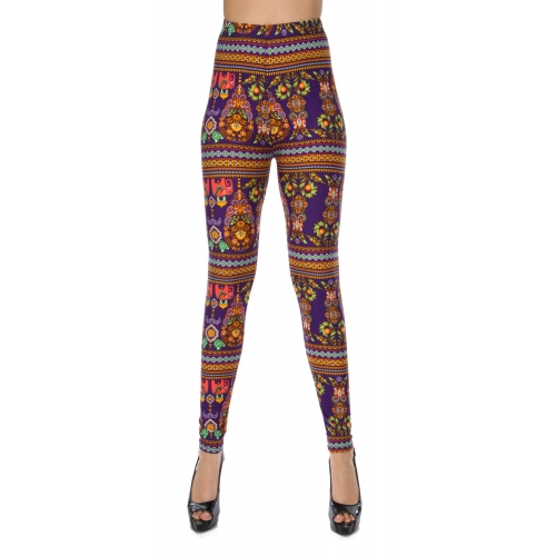Wholesale Y05B NEW MIX Tribal elephant soft brush leggings