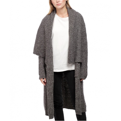 Wholesale Y28A Long open knit cardigan