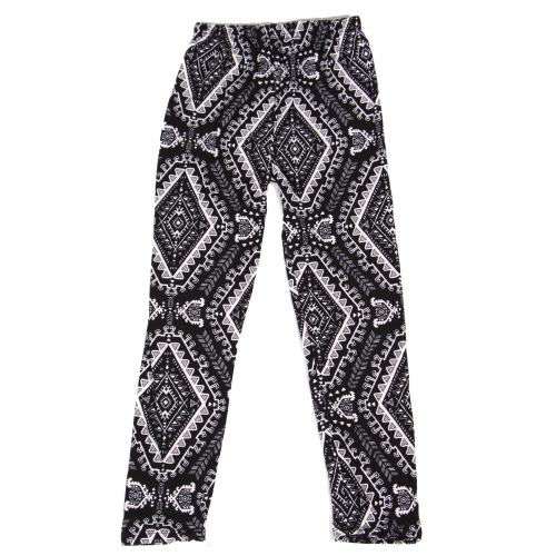Wholesale Y00B NEW MIX Girls print leggings Diamond Black