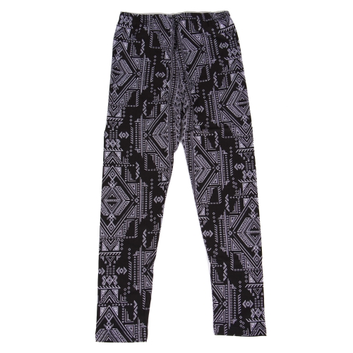 Wholesale Y00E NEW MIX Girls print leggings Geo Black