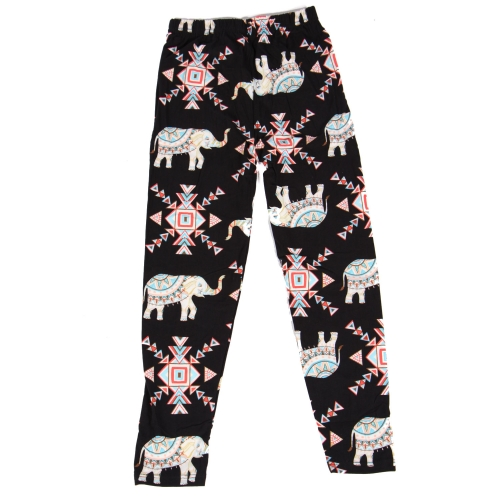 Wholesale Y01B NEW MIX Girls print leggings Elephant Geo