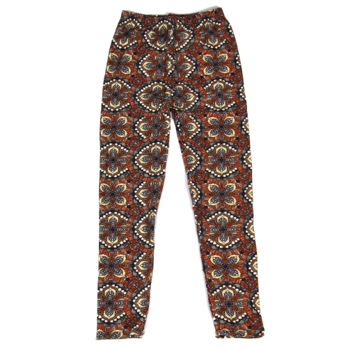 Wholesale Y01E NEW MIX Girls print leggings Mandala Brown