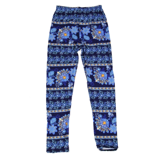 Wholesale Y02B NEW MIX Girls print leggings Paisley Blue