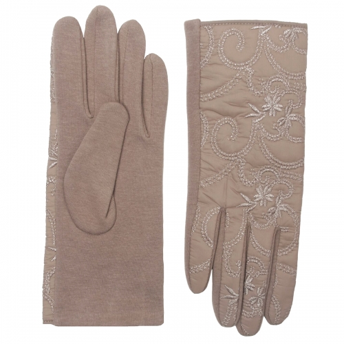 Wholesale Y32D Cotton blend embroidered touch screen gloves