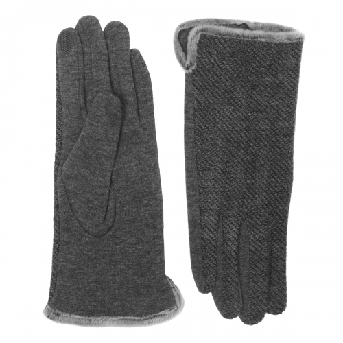 Wholesale Y32D Faux fur trimming touch screen gloves