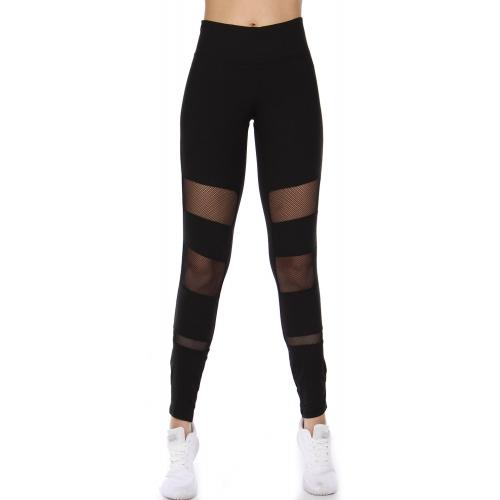Wholesale A34 Fishnet cutout active leggings Black