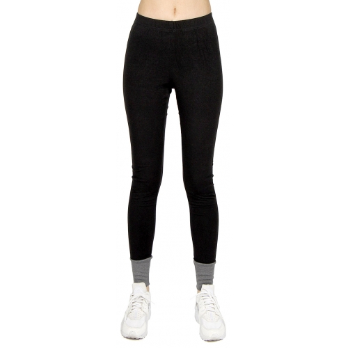 wholesale L43 Ankle accent cotton leggings Black