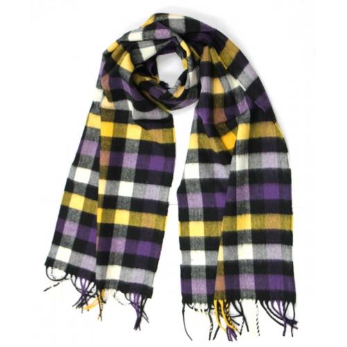 wholesale O75 Soft cashmere scarf A07 BK/PP fashionunic