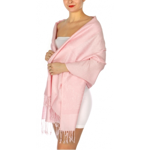 wholesale D31 Whole Jacquard Pashmina 25 Lite Pink