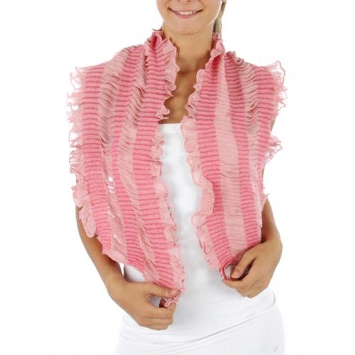 wholesale I73 Crinkle Ruffle Belt Scarf L Pink