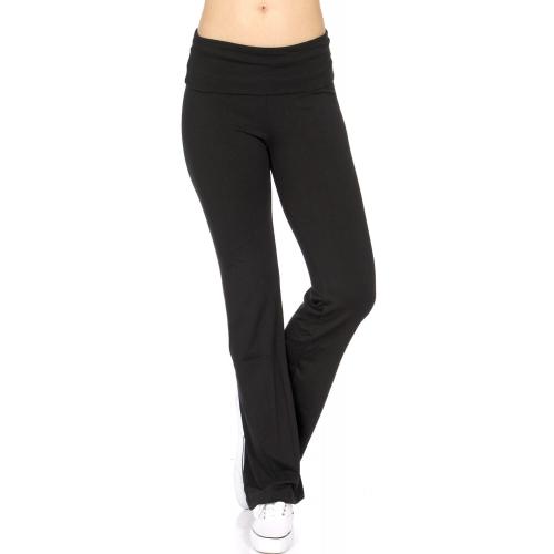 wholesale M42 Solid cotton yoga pants Black