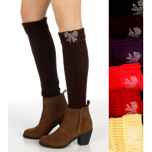 Wholesale Q24 Ribbon Leg warmers Assort Dozen