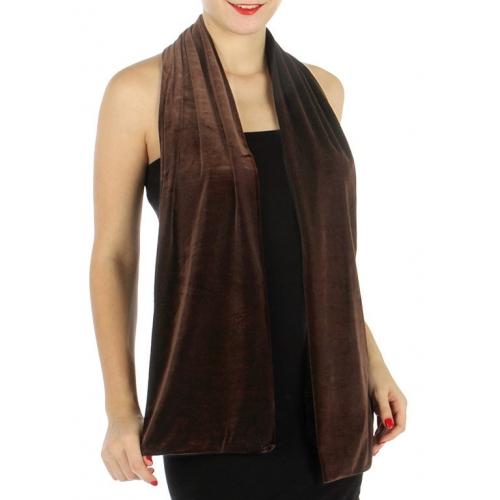 wholesale C07 Double side velvet scarf Black fashionunic