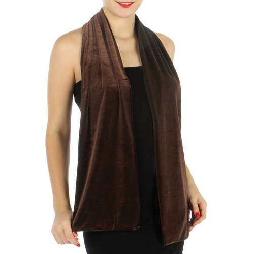 wholesale C07 Double side velvet scarf Black fashionunic
