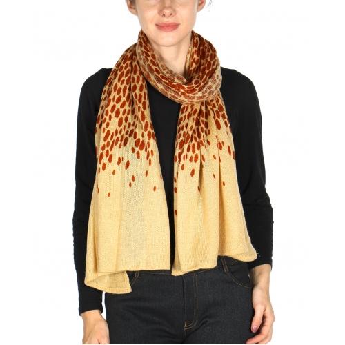 wholesale E15 Leopard knit scarf CM fashionunic