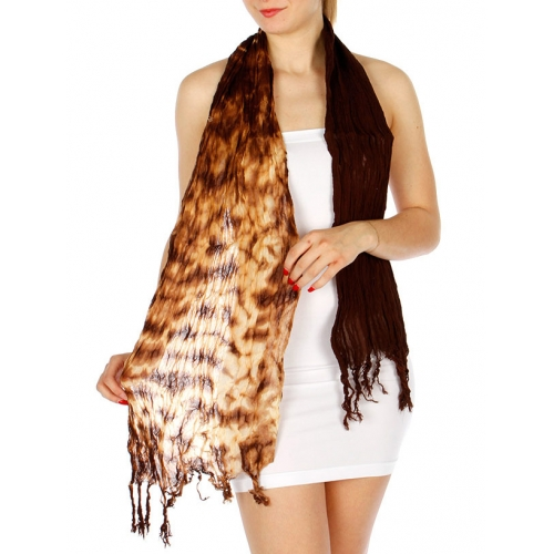 wholesale B00 Ombre dyed cotton wrinkle shawll Brown