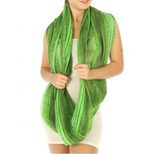 wholesale K14 Snake Eternity Neon Stripe Scarf Green