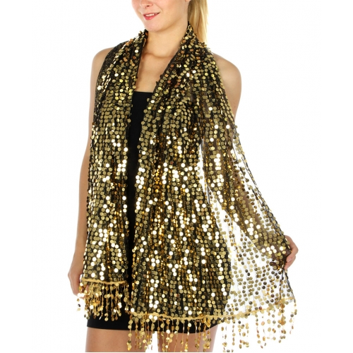 wholesale I51 Round sequin Party Shawl White fashionunic
