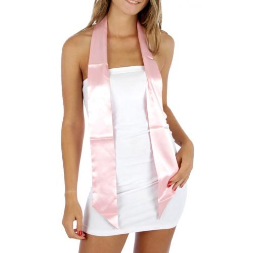 wholesale B21 Satin Tube Belt Scarf Pink fashionunic