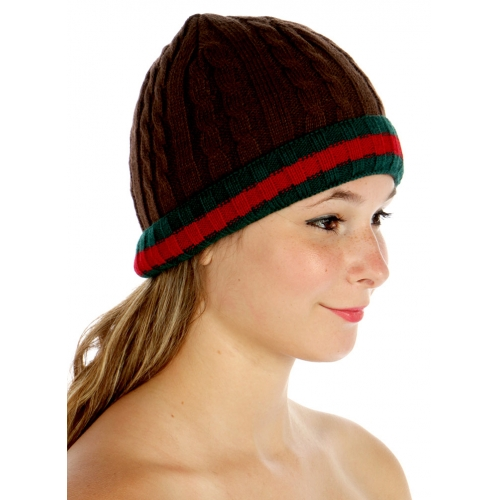 wholesale F13 Stripe ski hat Brown fashionunic
