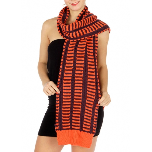 wholesale E22 Emboss ladder knit scarf OR fashionunic