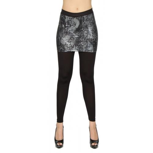 wholesale B27 Skirt foiled leggings skin Black S/M