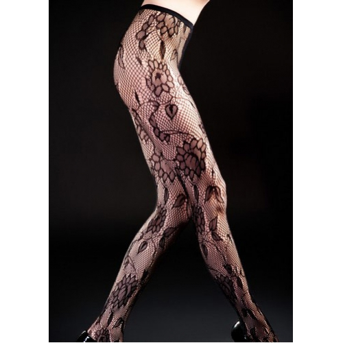 wholesale I75 Circular florals fishnet pantyhose