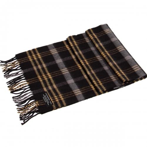 wholesale P34 Triple YL lines cashmere scarf A20 BK