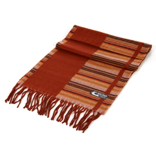 wholesale P26 cashmere Scarf 302 Rust fashionunic