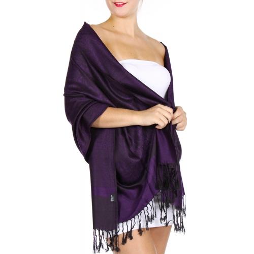 wholesale D35 Whole Jacquard Pashmina 72 Indigo Purple