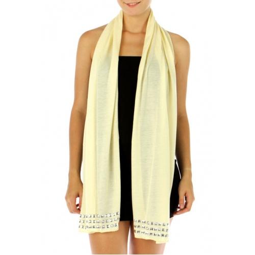 wholesale H33 Square stud cotton shawl Beige fashionunic