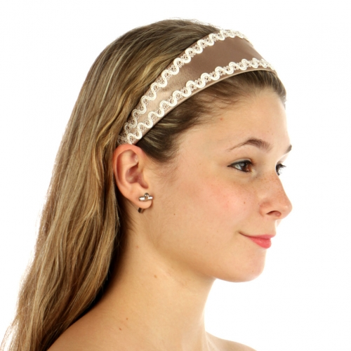 wholesale A02 Dozen Lace trim satin headband fashionunic