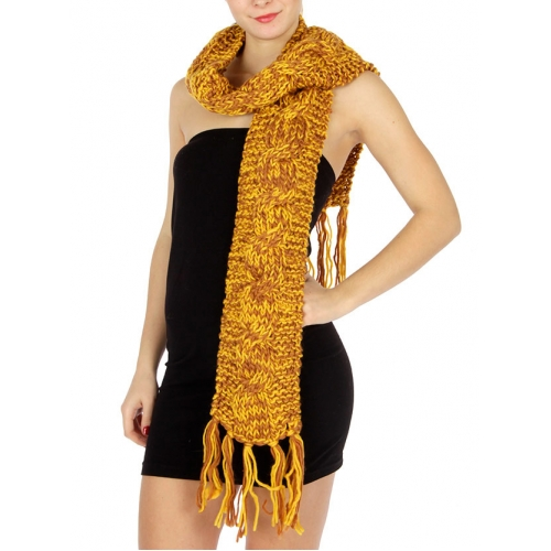 wholesale S08 Classic cable Knit skinny Scarf YL