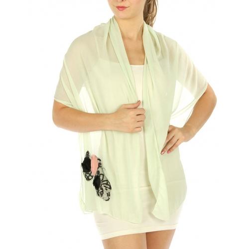 wholesale E04 Lace flower corsage shawl Lime fashionunic