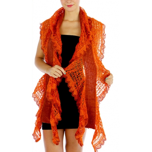 wholesale O43 Sequin mesh ruffle scarf OR fashionunic