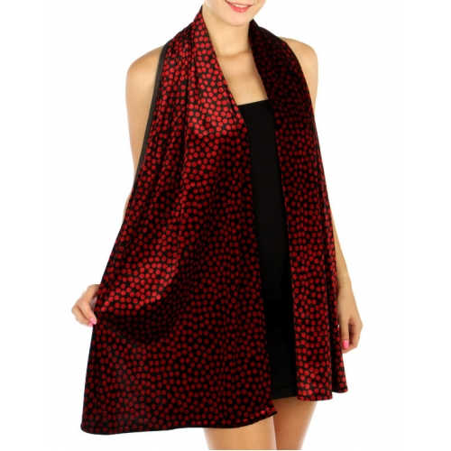 wholesale B11 Polka dot Stretch Velvet Black fashionunic
