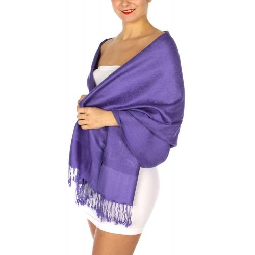 wholesale D35 Whole Jacquard Pashmina 77 Medium Purple
