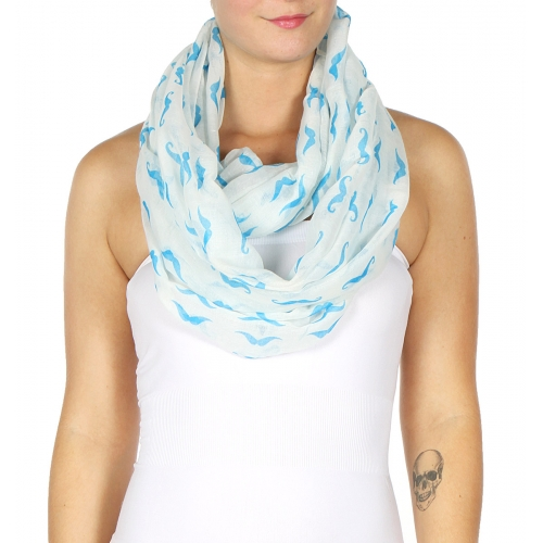 wholesale I09 Infinity style and Neon Seagull Scarf Blue