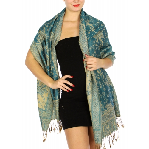 wholesale D32 Outlined paisley Pashmina 01 fashionunic