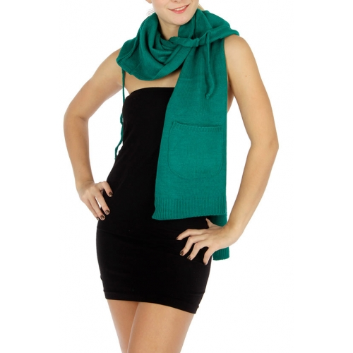 wholesale E10 Hooded pocket Knit scarf GN fashionunic